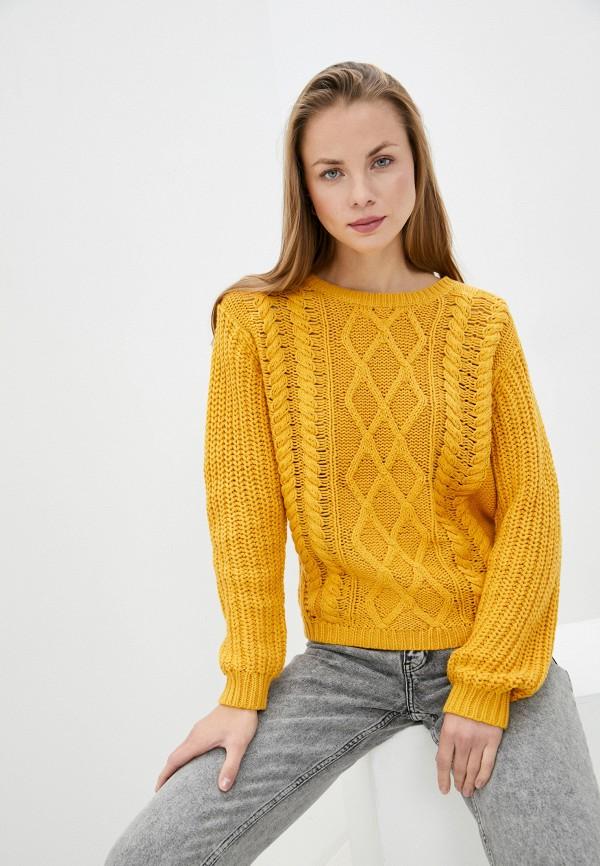 женский джемпер roxy, желтый