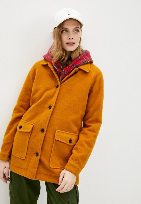 женское пальто roxy, желтое