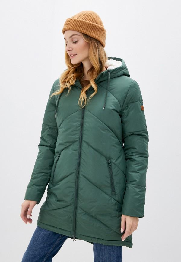 женская куртка roxy, зеленая