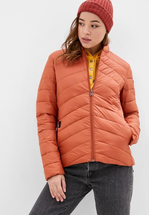 женская куртка roxy, оранжевая