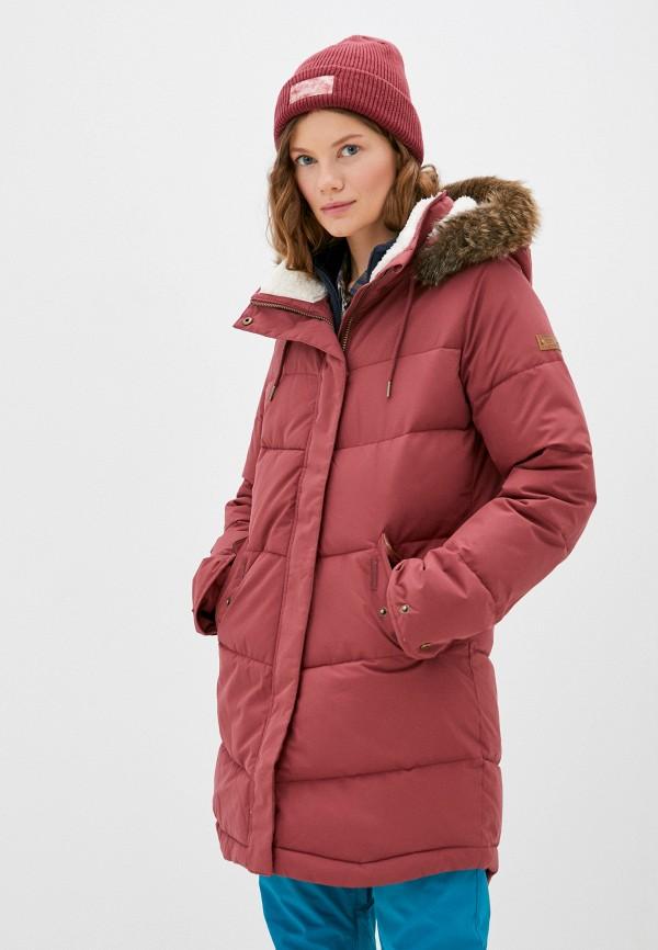 женская куртка roxy, розовая