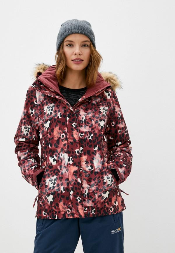 женская куртка roxy, бордовая