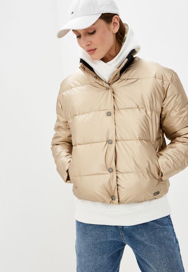 женская куртка roxy, золотая