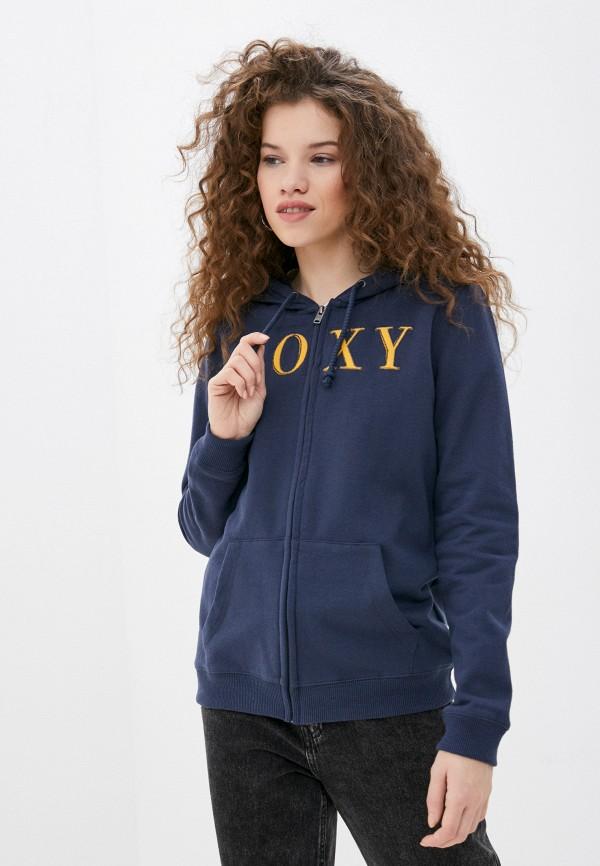 женская толстовка roxy, синяя