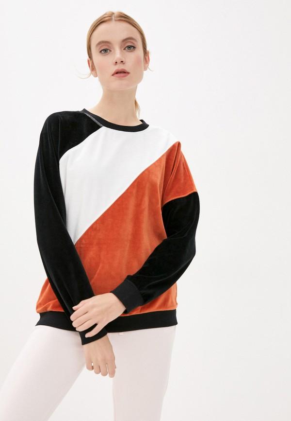 женский свитшот roxy, разноцветный