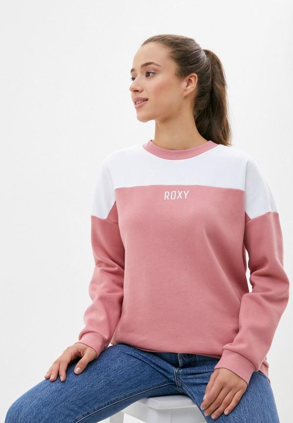 женский свитшот roxy, розовый