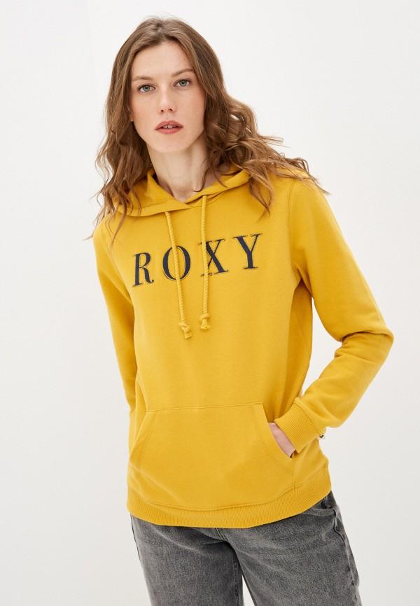 женские худи roxy, желтые