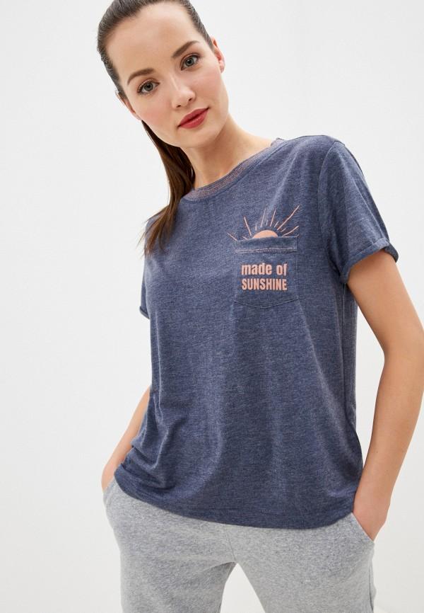 женская спортивные футболка roxy, синяя