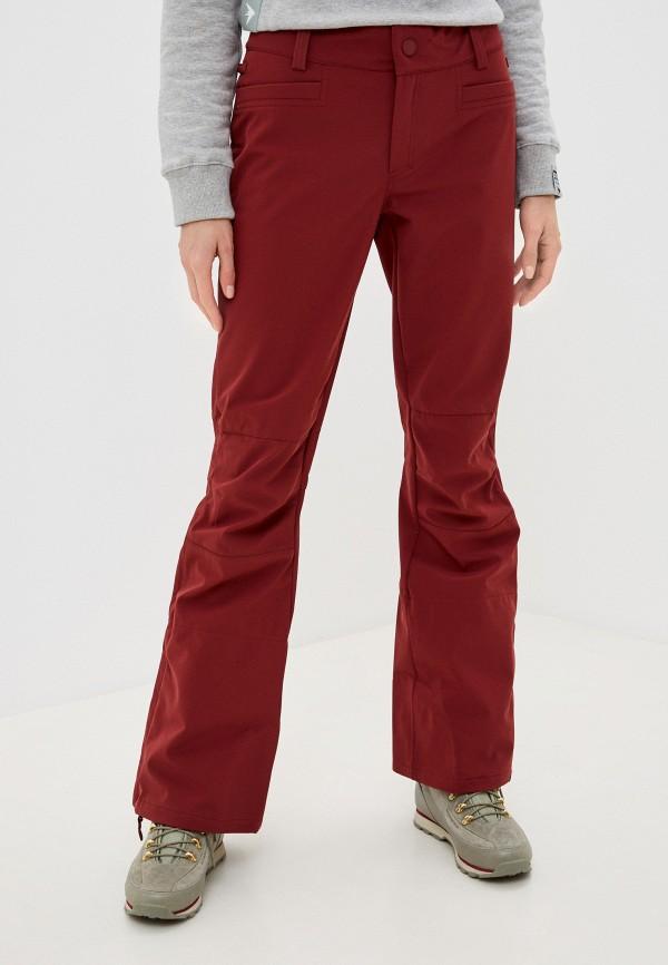 женские брюки roxy, бордовые
