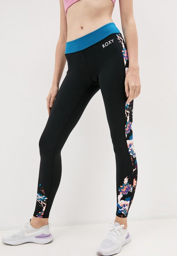 женские спортивные леггинсы roxy, черные