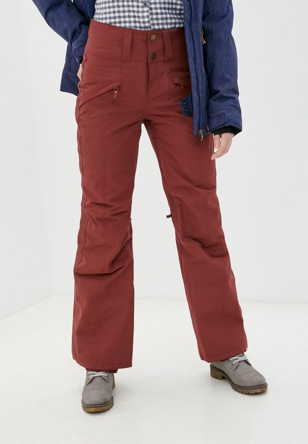 женские горнолыжные брюки roxy, бордовые