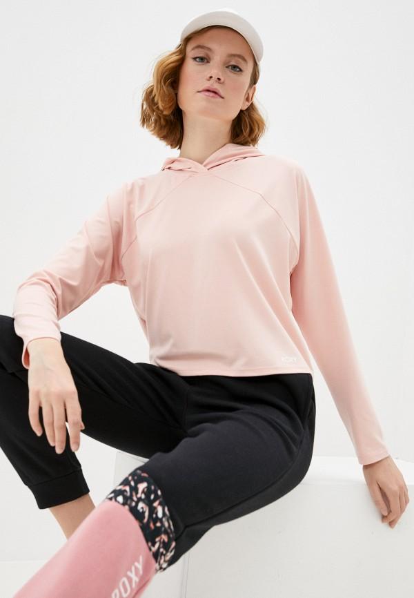 женские худи roxy, розовые