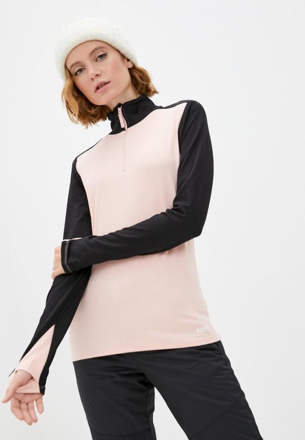 женский лонгслив roxy, розовый