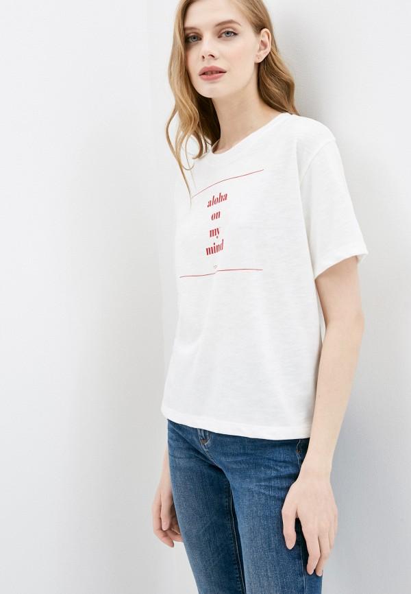 женская спортивные футболка roxy, белая