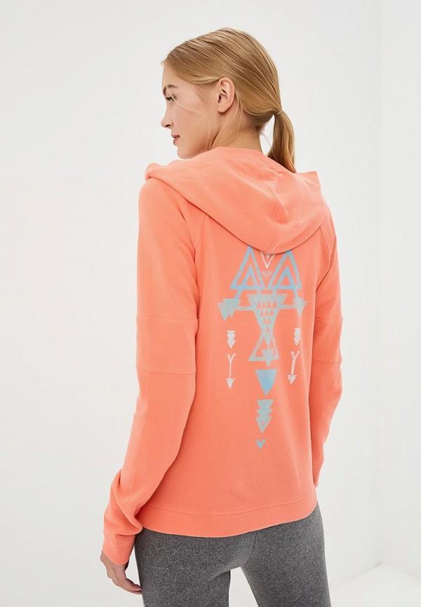 Фото 3 - женскую толстовку или олимпийку Roxy кораллового цвета