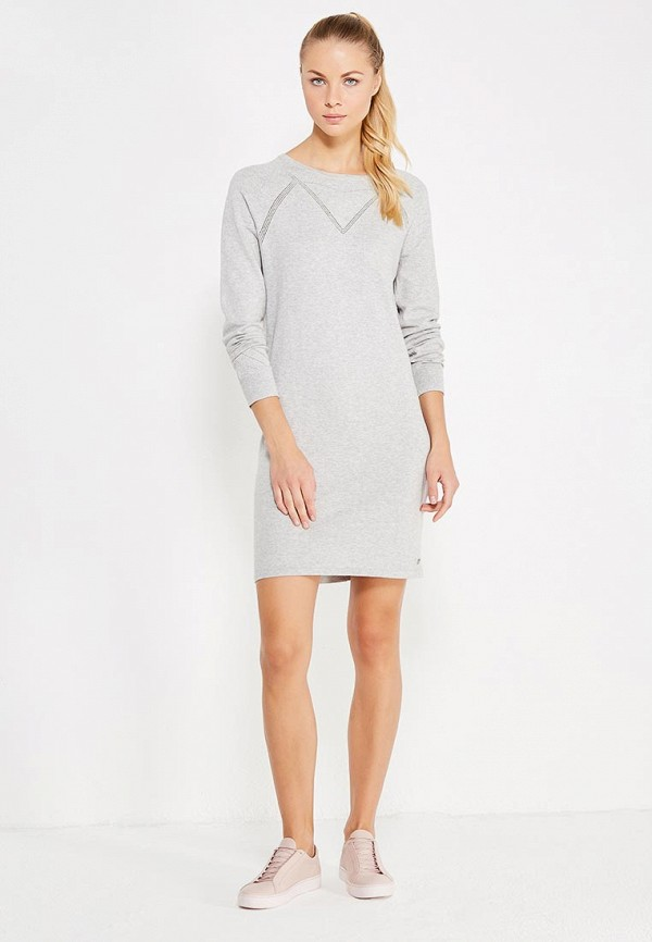 Фото 2 - женское платье Roxy серого цвета