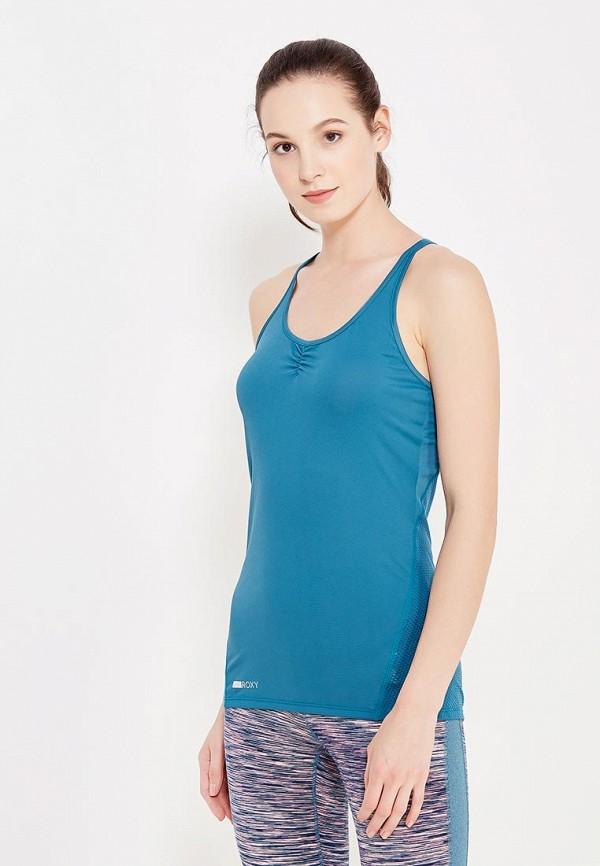женская спортивные майка roxy, голубая