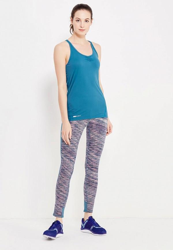 Фото 2 - Майку спортивная Roxy голубого цвета