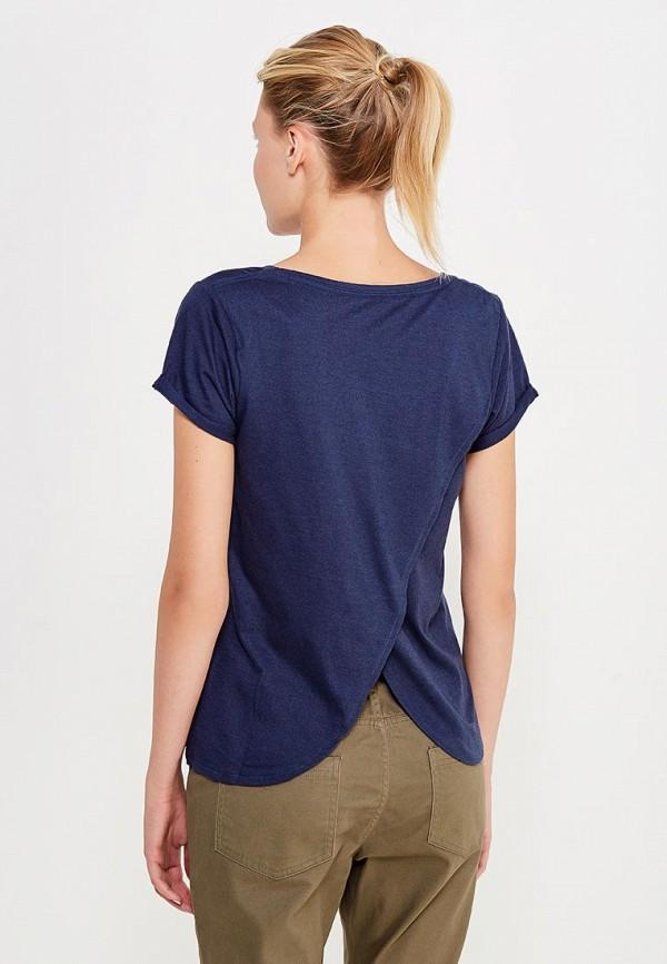 Фото 3 - женскую футболку Roxy синего цвета