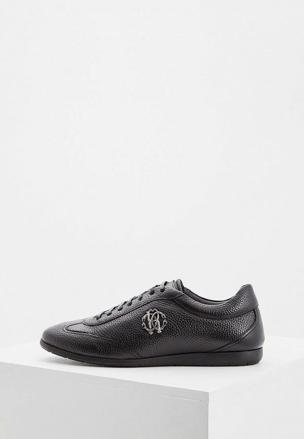 мужские кроссовки roberto cavalli, черные