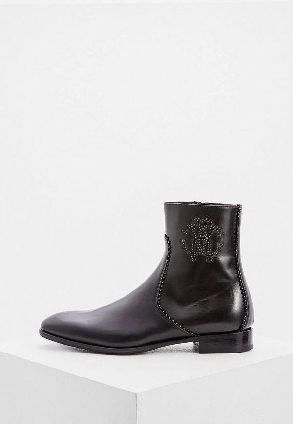 мужские ботинки roberto cavalli, черные