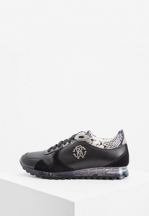 мужские низкие кроссовки roberto cavalli, черные