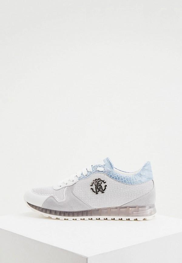 мужские низкие кроссовки roberto cavalli, белые