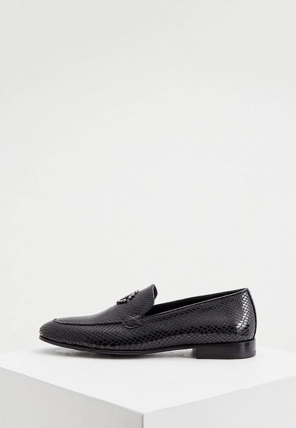 мужские лоферы roberto cavalli, черные