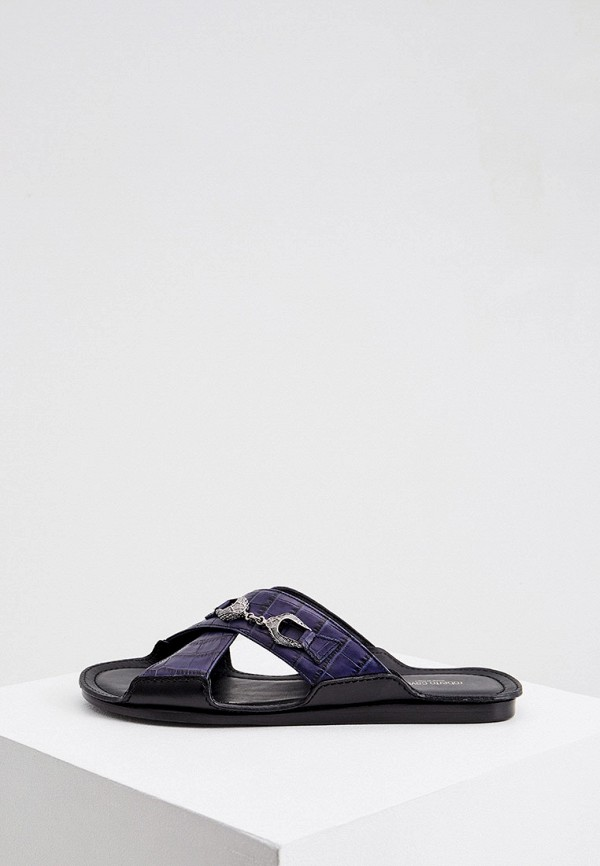 мужские низкие кроссовки roberto cavalli, синие
