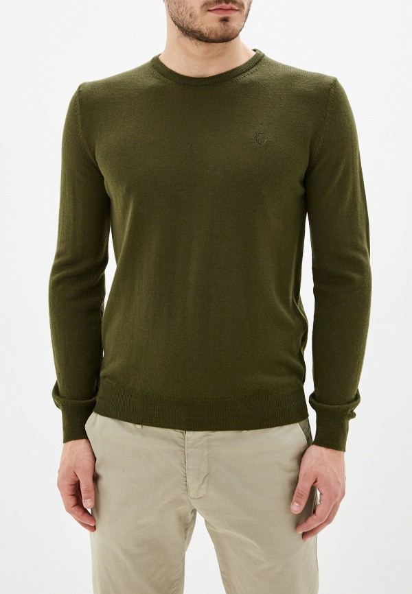 мужской джемпер roberto cavalli, зеленый
