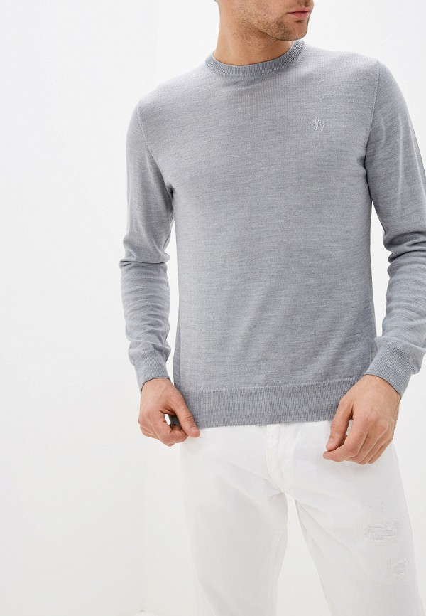 мужской джемпер roberto cavalli, серый