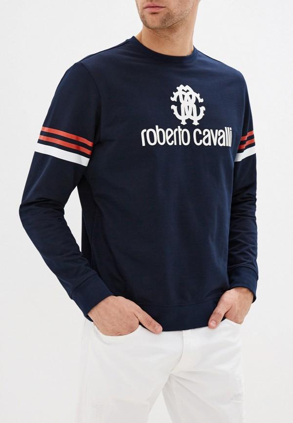 мужской свитшот roberto cavalli, синий