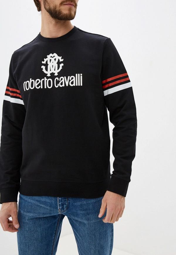 мужской свитшот roberto cavalli, черный