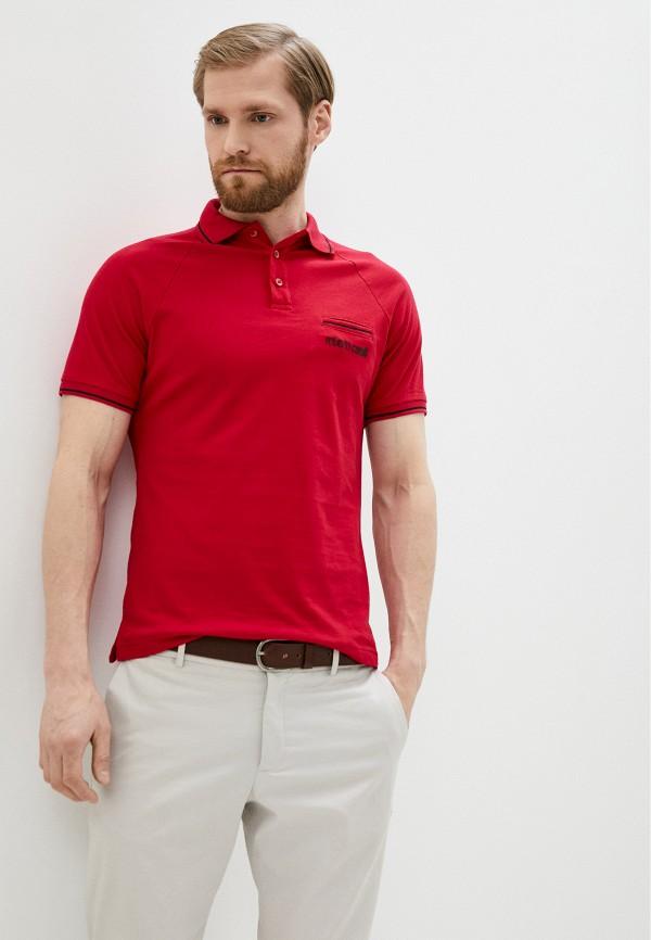 мужское поло с коротким рукавом roberto cavalli, красное