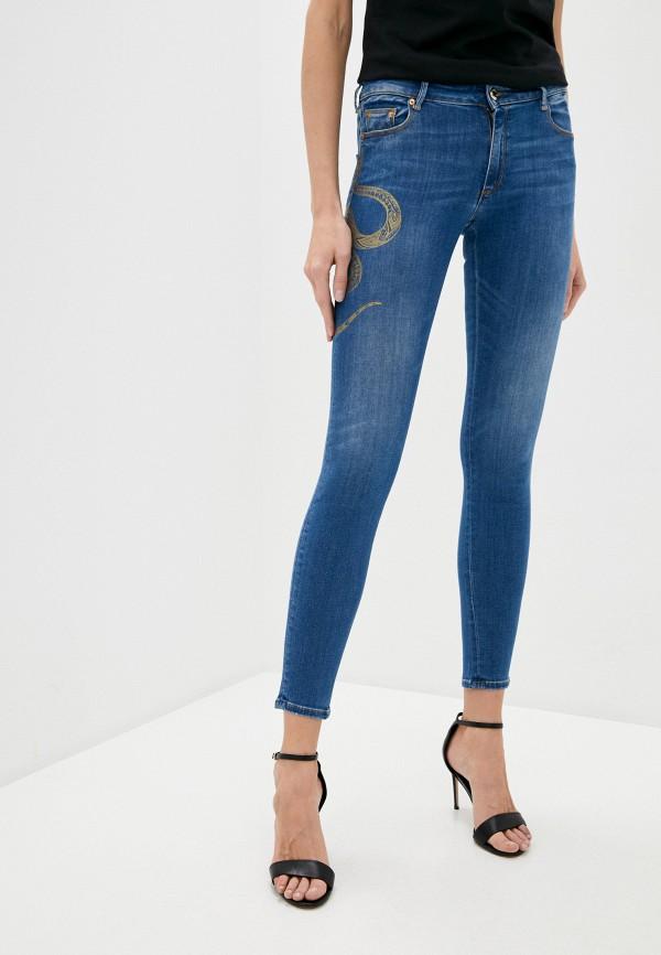 женские джинсы скинни roberto cavalli, синие