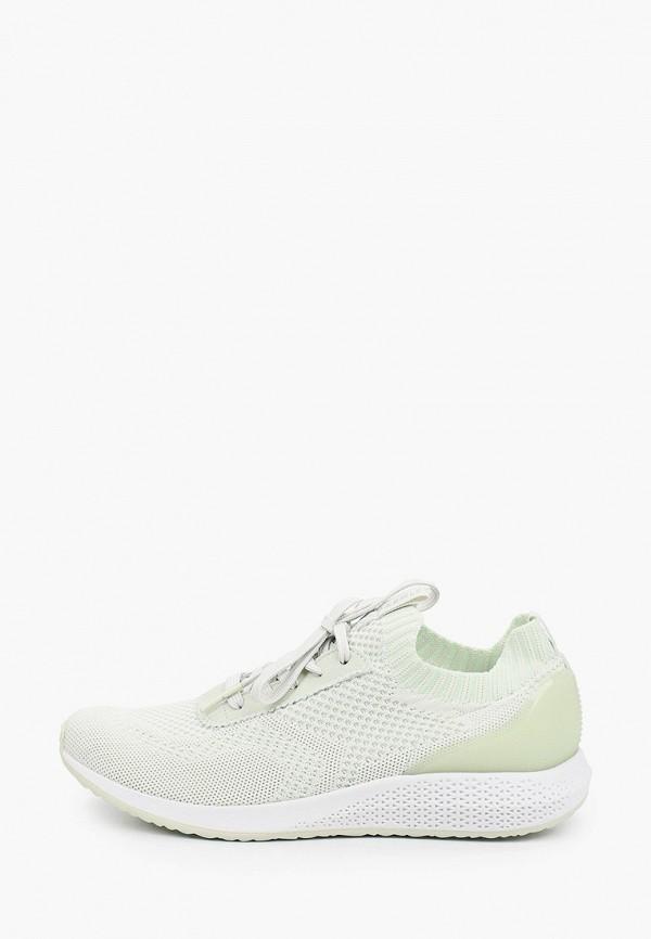 женские кроссовки tamaris fashletics, зеленые