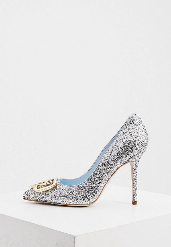 женские туфли chiara ferragni, серебряные