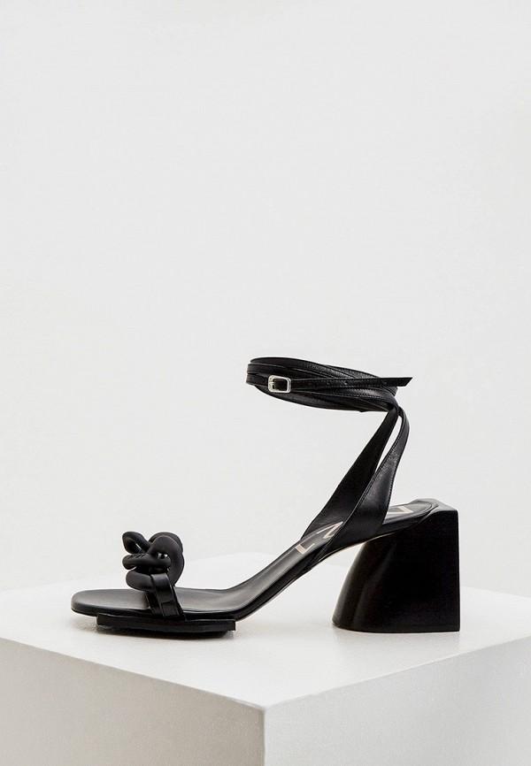женские босоножки n21, черные