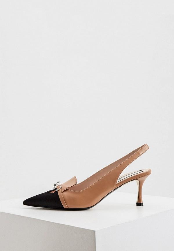 женские туфли n21, бежевые