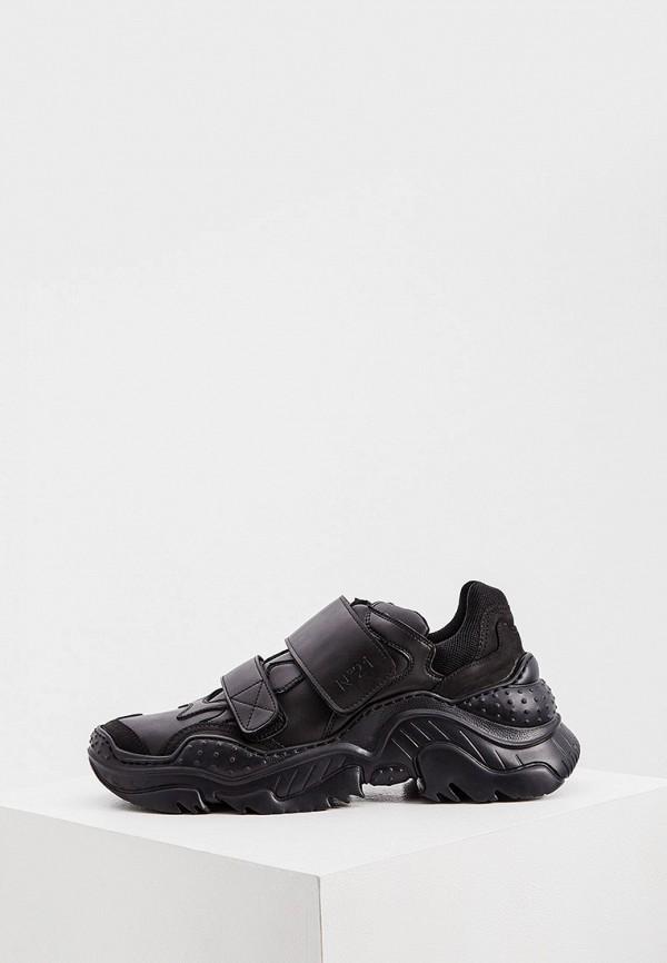мужские кроссовки n21, черные