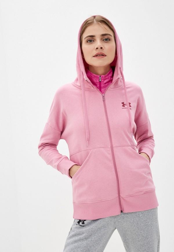 женская спортивные толстовка under armour, розовая