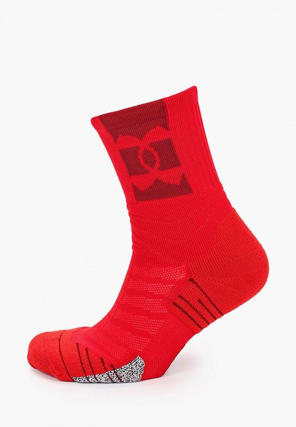 женские носки under armour, красные