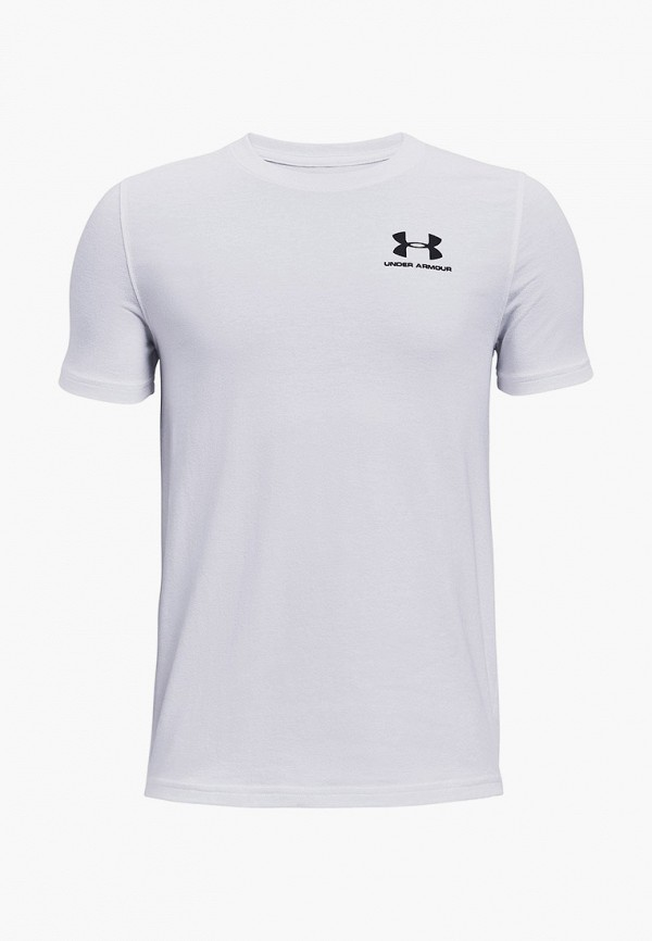 футболка с коротким рукавом under armour для мальчика, белая