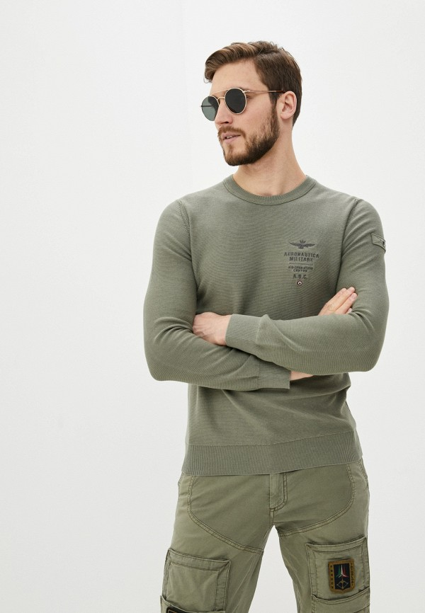 мужской джемпер aeronautica militare, хаки