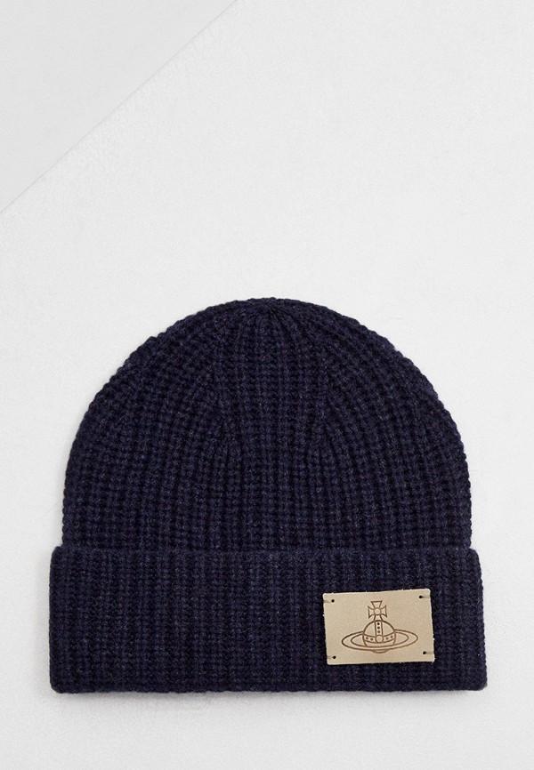 мужская шапка vivienne westwood, синяя