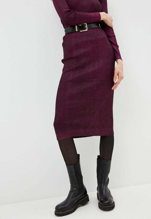 женская зауженные юбка twinset milano, фиолетовая