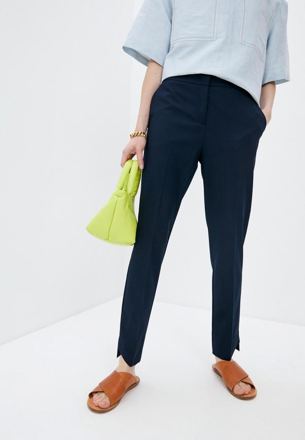 женские классические брюки beatrice.b, серебряные