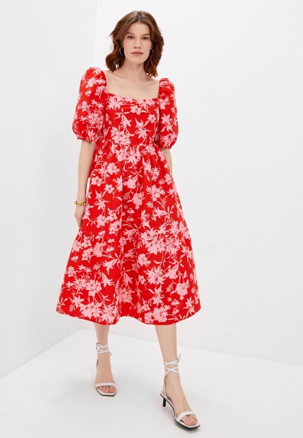 женское повседневные платье beatrice.b, красное