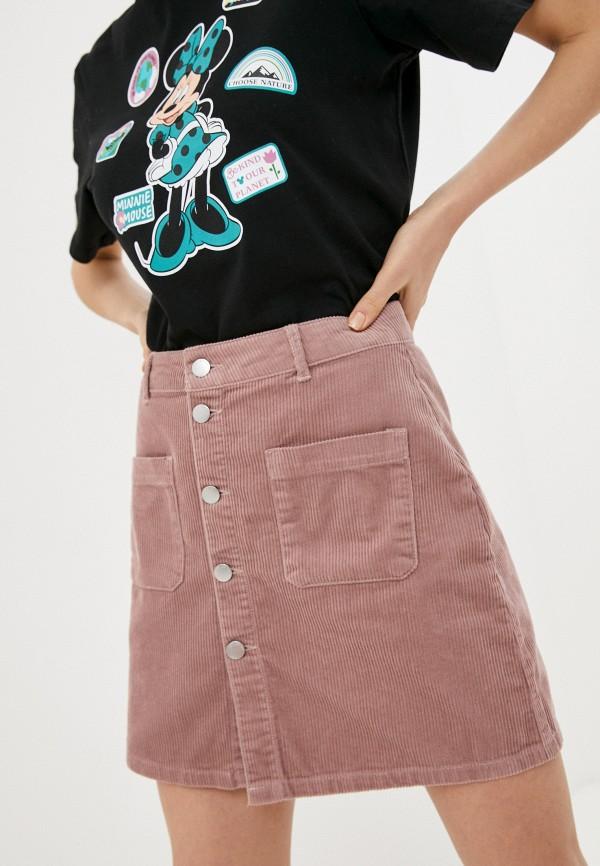 женская юбка-трапеции jacqueline de yong, розовая