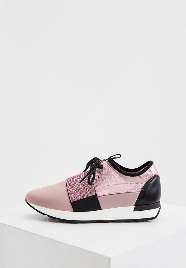 женские кроссовки pollini, розовые